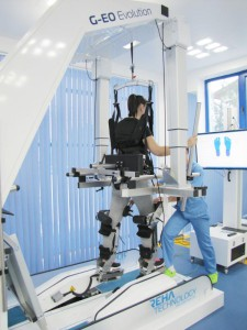 Rééducation robotisée à la marche: G-EO System de Rehatechnology